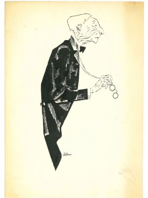 """New Yorker  by Adolf Hallman - Modern Artwork"