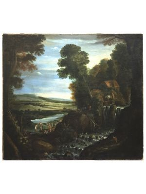 Landscape With Figures by Matthijs Bril - Old Master