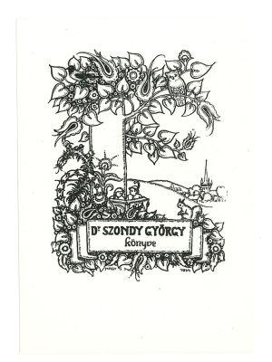 Ex Libris Szondy Gyorgy - Modern Artwork