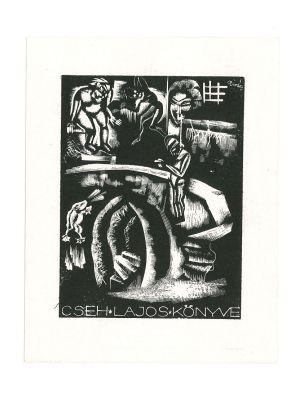 Ex Libris Cseh Lajos Konive - Modern Artwork