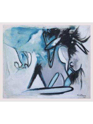Blue Expressionism by Giorgio Lo Fermo - Contemporary Artwork