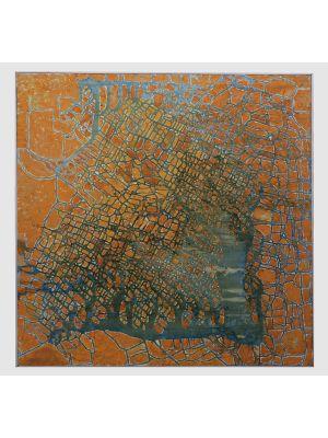 Golden Reticulum by Giorgio Lo Fermo - Contemporary Artwork