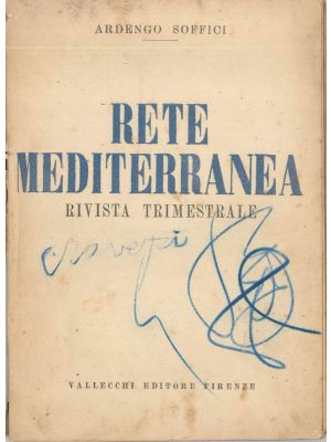 A.Soffici, Rete Mediterranea, First issue, Vallecchi Publishing House, Florence, 1920 , Cover