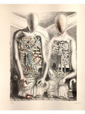 Les Archéologues IV by Giorgio de Chirico - Surrealism