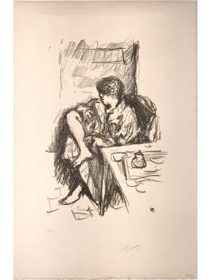 La Toilette Assise by Pierre Bonnard - Modern Artwork