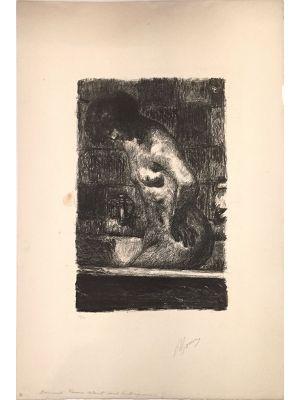 P. BONNARD, Femme Debout dans sa Baignoire, Lithograph, 1925.