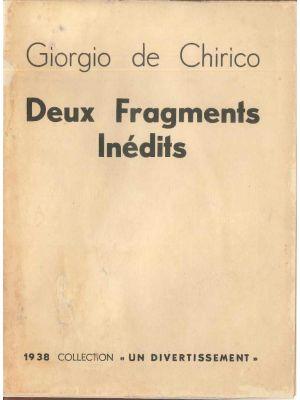 G. De CHIRICO, Deux Fragments Inédits, Original Front. Paris, Parisot 1938