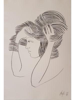 Corrado Cagli, Untitled, Litograph, 1971. Modern Art, Modern Art Artwork, Roman School,
