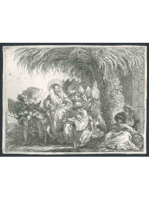 Maria e Giuseppe escono dalla casa by Giandomenico Tiepolo - Old Master's