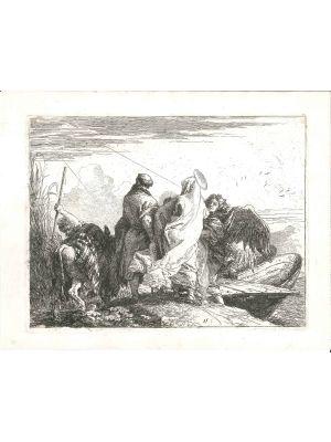 La Sacra Famiglia Abbandona La Riva by Giandomenico Tiepolo - Old Master