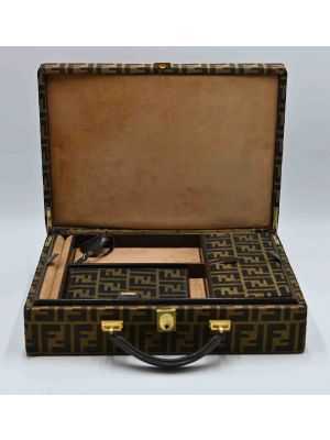 Vintage Fendi Monogram Briefcase 24 Hours Document and Jewel case