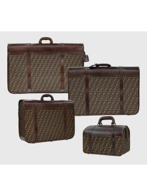 Vintage Suitcases Set by Fendi - Brown Monogram Travel