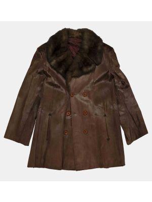Vintage Shaved Mink fur Man jacket