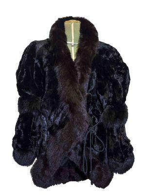 """Vintage Yves Saint LAURENT """"Fourrures"""" Black Mink"""