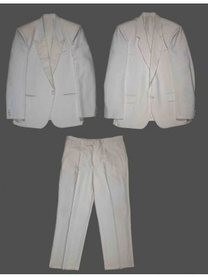 Vintage White Men's Tailored Suit and Tuxedo Jacket