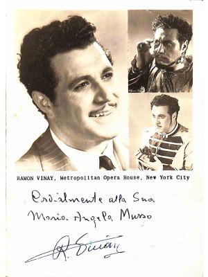 Ramón Vinay Autographed Photograph