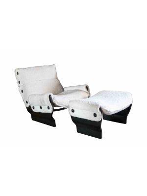 Osvaldo Borsani - Lounge Chair and Pouff